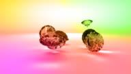 Colorful Precious Gems video
