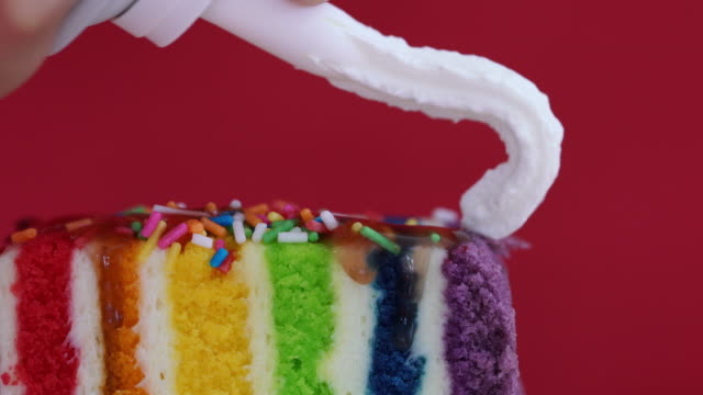 Colorful Rainbow Cake video