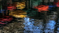 Colorful reflection on the Riverwalk in San Antonio video