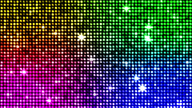 Colorful reflectors and sparkles seamless looping video