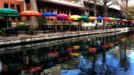 Colorful Riverwalk in San Antonio video