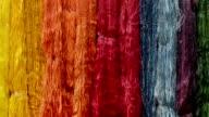 colorful silk yarns video