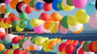 Colorful Slow Motion Balloons video