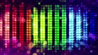colorful sound level meter equalizer loop video