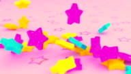 Colorful Stars in Pink Tone video