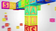 Colorful success crossword HD Animation video