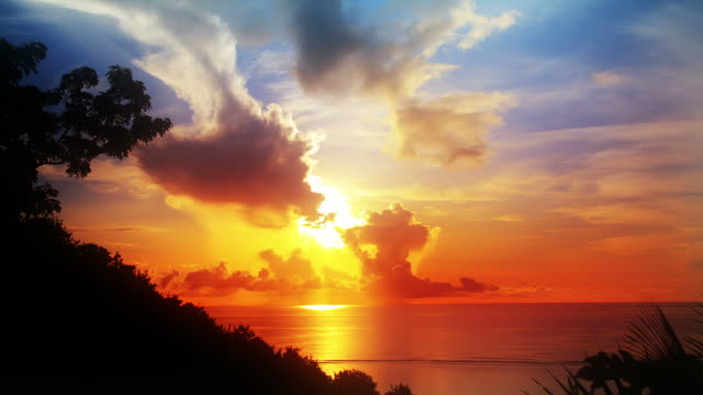 Colorful sunrise video