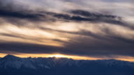 Colorful Sunset Over White Mountains, California video