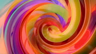 3D Colorful Swirls Background video