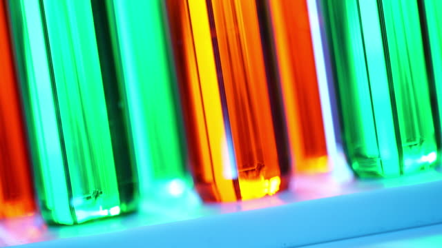 Colorful test tubes video
