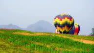 Colorful Time-Lapse of Hot Air Balloons in Chiang Rai, Thailand. video