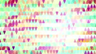 colorful triangles loopable geometric background video