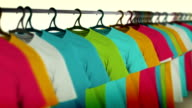 Colorful t-shirts video