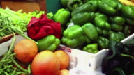 Colorful vegetable market. video