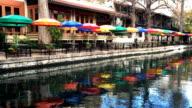 Colorful view at the Riverwalk in San Antonio video