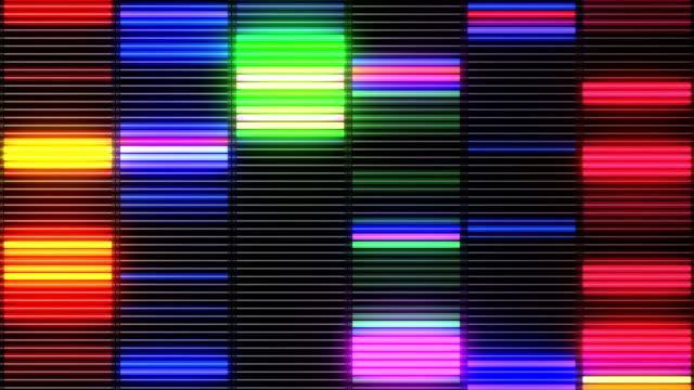 Colorful vj loop equalizer video