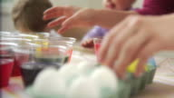 Coloring easter eggs video