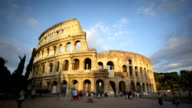 Colosseum at sunset, Rome, Italy video