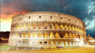 Colosseum, Colosseo, Rome - Time lapse video