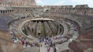 Colosseum interior Rome Italy video