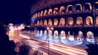 Colosseum night time lapse HD video