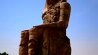 Colossi of Memnon Sculptures in Luxor Egypt video