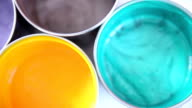 colour palette of bright paints video