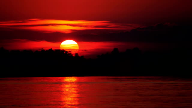Colour Sunset Over The River video