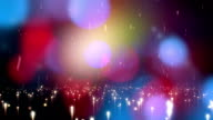 Colourful Abstract Background Animation With Lens Flares video
