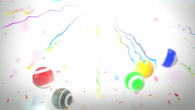 Colourful Celebration Party Background - Fun Bouncy Balls (HD) video