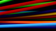 Colourful electric wires waving and moving video