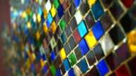 colourful glass mosaic abstract shiny vintage background video