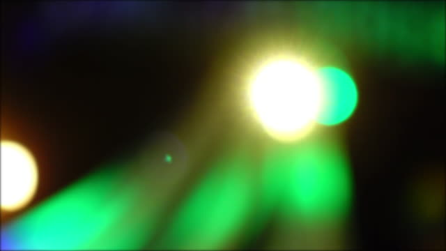 colourful light in night club party, 4k blur shot video
