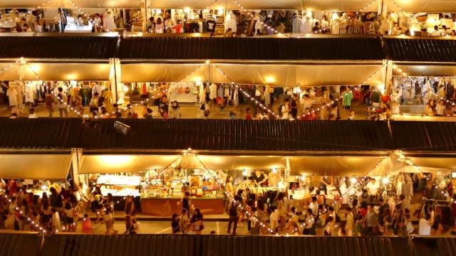 Colourful night market video