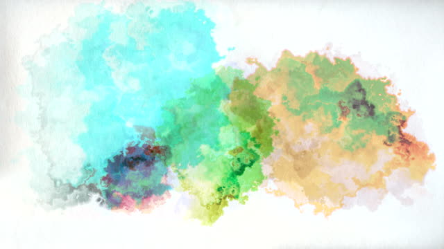 Colourful paint drops on paper video