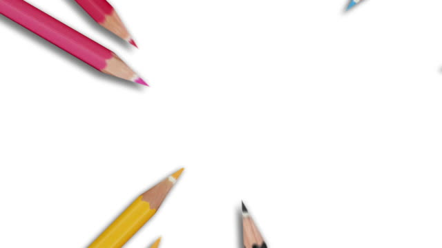 Colourful Pencils Animation - Radial Wave (with Alpha) video