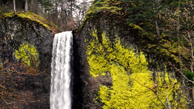 Columbia Gorge Waterfall Oregon Cascades Ainsworth State Park video