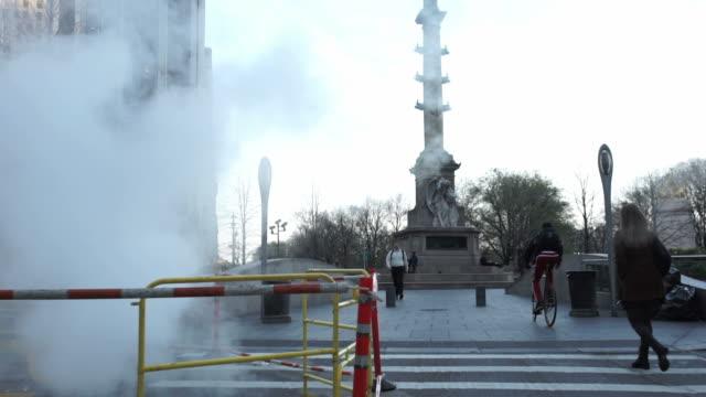 Columbus Circle establishing shot NYC video