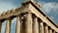 Columns of Parthenon - antique temple in Athenian Acropolis in Greece video