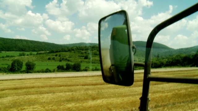 Combine Harvester rear mirror video