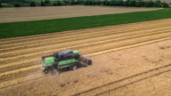 AERIAL: Combine Harvester video