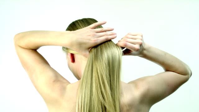 combing hair video