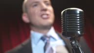 HD: Comedian Talking Into Microphone video