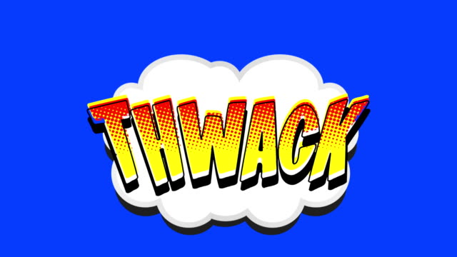 Comic Book Speech Bubble Thwack video