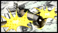 Comic Book Style P-47 Thunderbolt video
