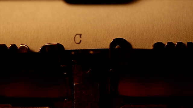 'Coming soon' typed using an old typewriter video