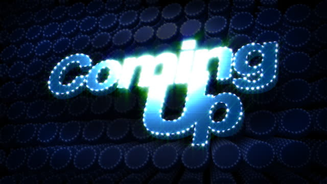 Coming Up Glitz Sparkle Text video