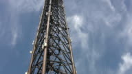 Communication tower. Timelapse clouds. video