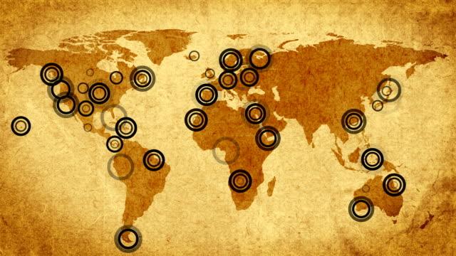 Communications map. Retro style. video