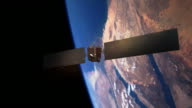 Communications Satellite Orbiting Earth - Cinematic video